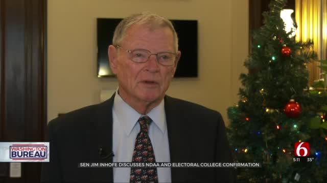 Sen. Inhofe Addresses NDAA; Says Still Inaccurate To Name Biden President-Elect