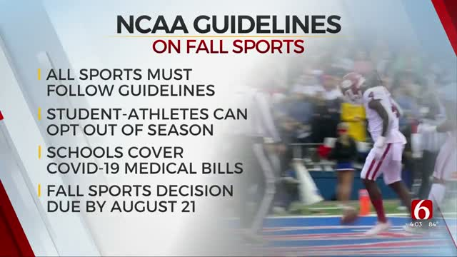 NCAA Releases Guidelines For Fall Sports, Cancels DII Fall Championships