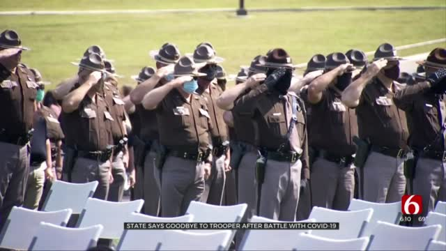 Oklahoma Says Goodbye To Trooper After Battle With COVID-19