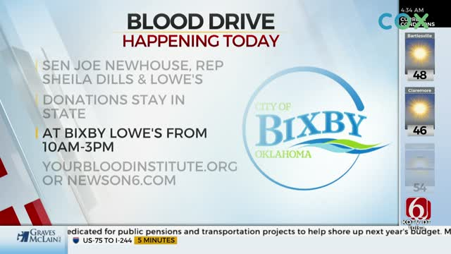 City Of Bixby Partners With Oklahoma Blood Institute For Blood Drive