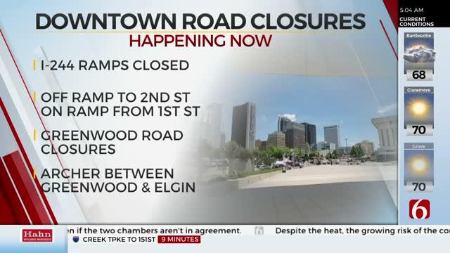 Downtown Tulsa Streets Shut Down Ahead Of President Trump's Rally