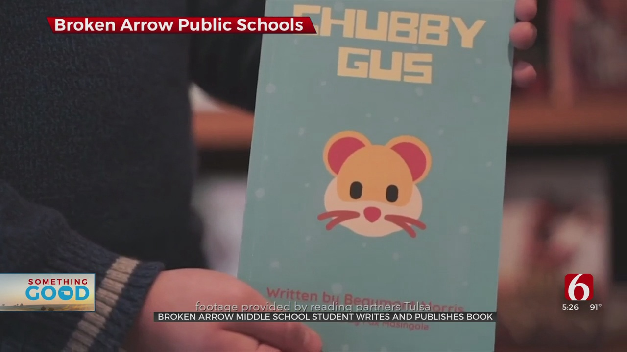 Broken Arrow Middle School Student Writes, Publishes His Own Book