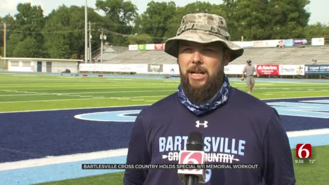 Bartlesville Cross Country Holds Special 9/11 Memorial Workout