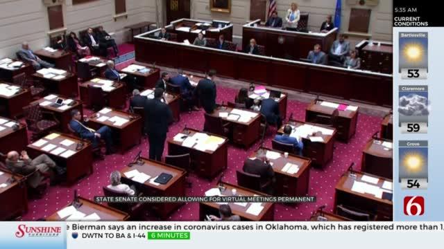 Oklahoma State Senate Considers Permanently Allowing Virtual Meetings