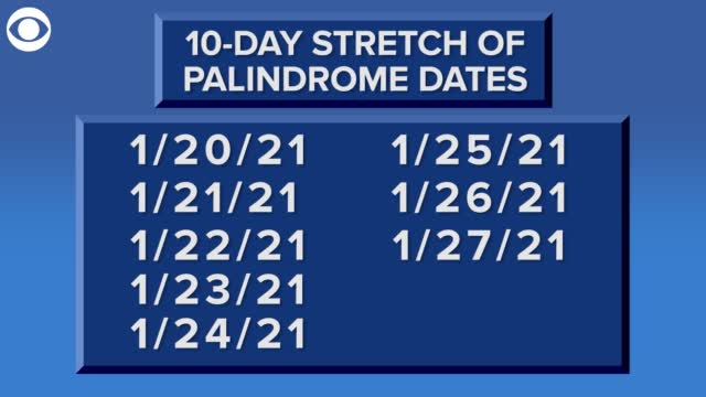 Check It Out: 10 Day Stretch Of Palindrome Dates