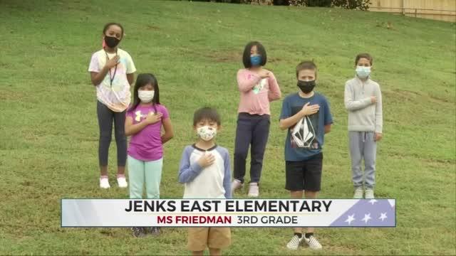 Daily Pledge: Ms. Friedman's 3rd Grade Class from Jenks East Elementary
