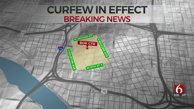 Tulsa Police: Curfew For Part Of Downtown Tulsa Through Saturday