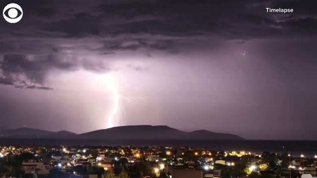 Athens National Observatory Records Several Thousand Lightning Strikes In Greece
