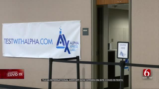 COVID-19 Testing Begins For Tulsa International Airport Travelers