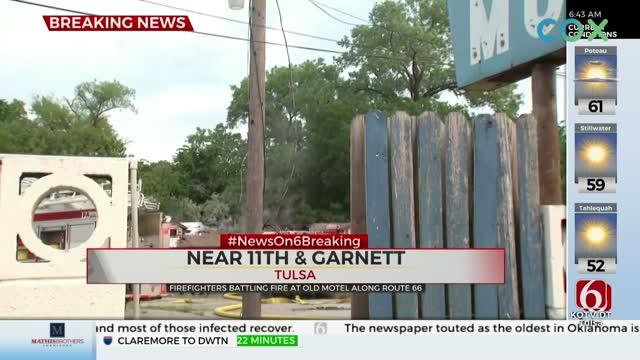 Tulsa Firefighters Respond To Building Fire, Closes 11th Near Garnett