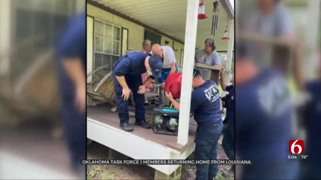 Oklahoma Task Force 1 Members Returning Home From Louisiana