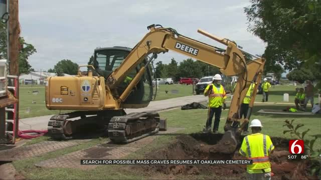 Search Resumes For Possible Mass Graves At Oaklawn Cemetery