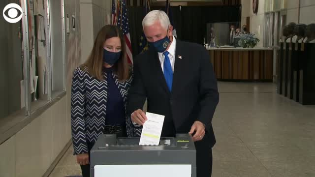 Watch: Vice President Pence, Karen Pence Vote In 2020 Election