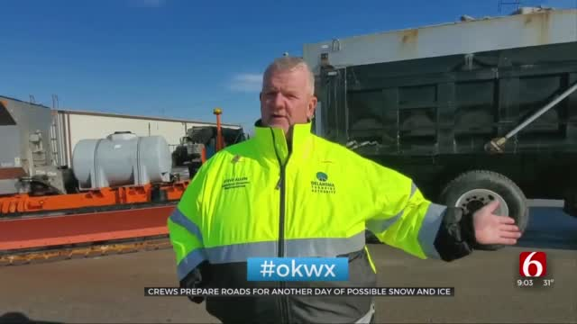 Crews Prepare Roads As Green Country Expects More Snow, Ice
