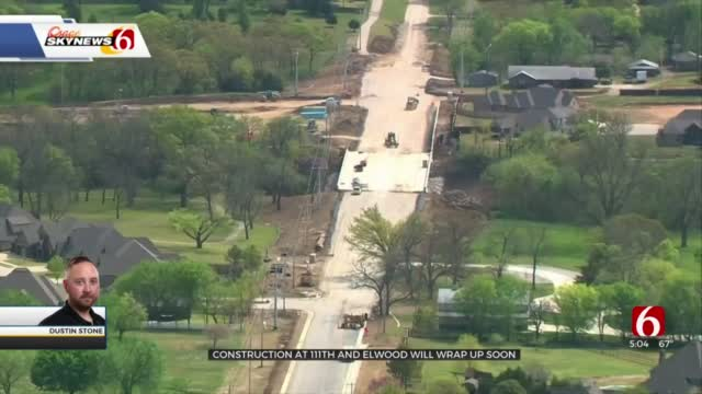 Construction At 111th and Elwood In Jenks Set To Wrap Up This Year