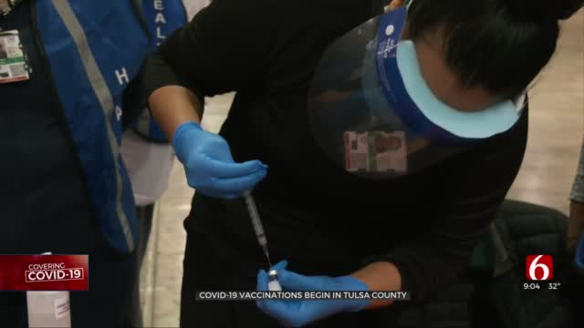 100 Tulsa Healthcare Workers Receive First Doses Of COVID-19 Vaccine