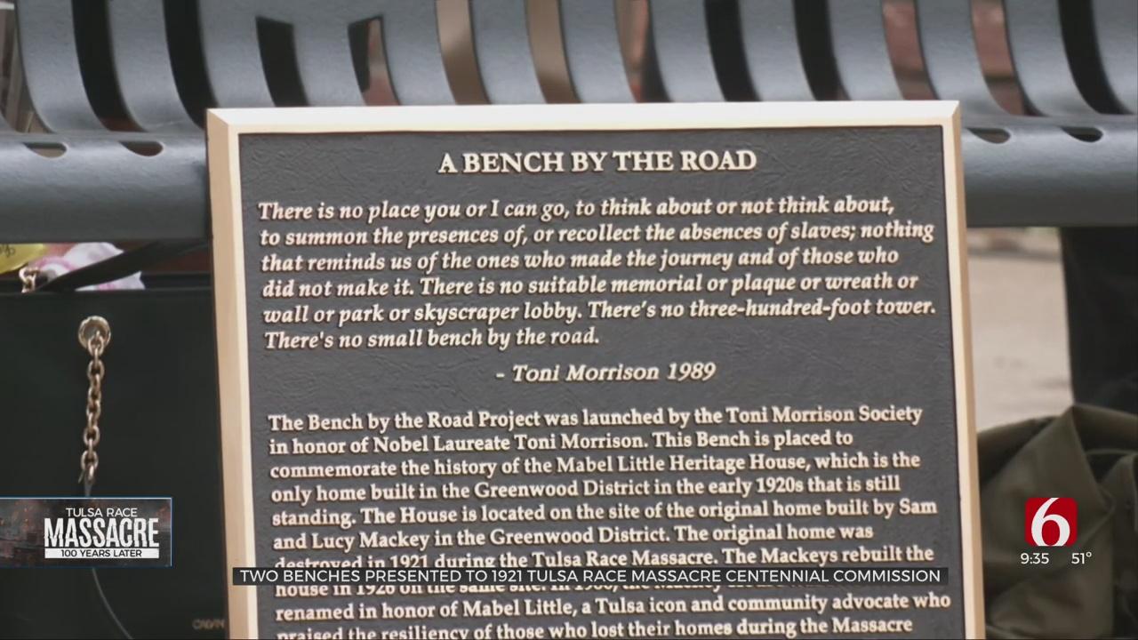 Bench Dedication Ceremony Commemorate Centennial Of 1921 Tulsa Race Massacre