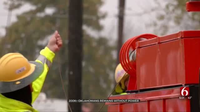 Over 300,000 Oklahomans Remain Without Power