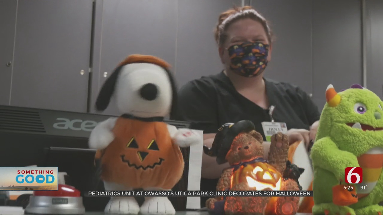 Pediatric Unit At Owasso's Utica Park Clinic Gets A Head Start On Halloween For The Kids