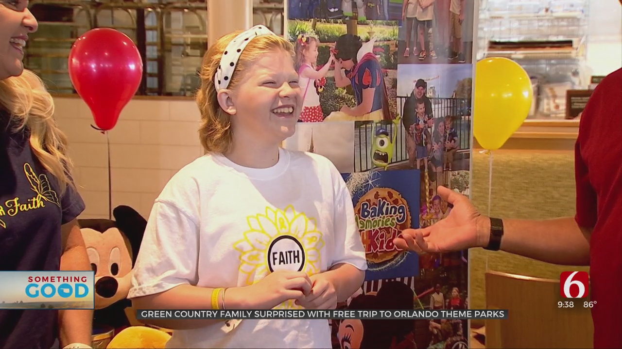 11-Year-Old Oklahoma Cancer Patient, Family Surprised With Trip To Florida