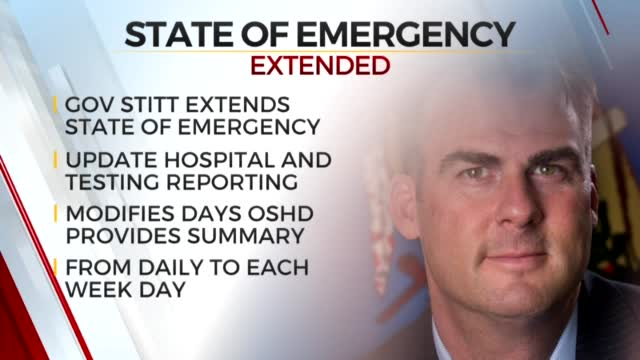 Governor Stitt Extends Oklahoma's State Of Emergency For COVID-19