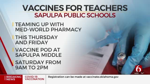 Sapulpa Public Schools To Deliver COVID-19 Vaccines To Employees This Week