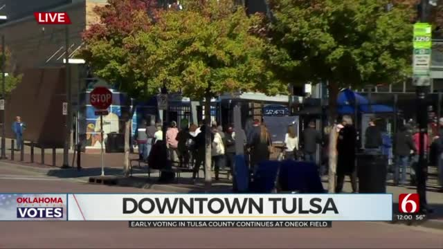 Tulsa County Early Voting Continues At ONEOK Field After Record Breaking Day 1 Turnout