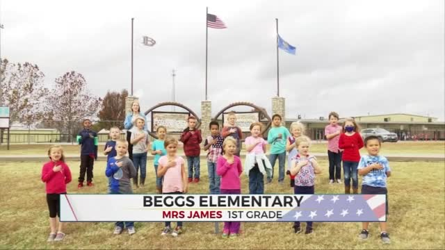Daily Pledge: Mrs. James' 1st Grade Class