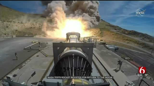 NASA Tests Rocket Booster For Return To Moon