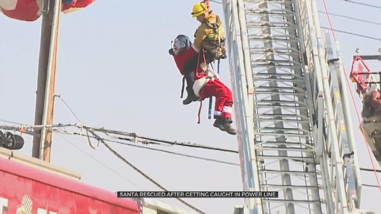 Man Dressed As Santa Rescued From Power Lines In California
