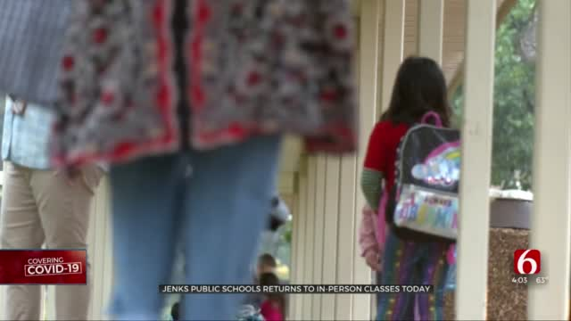 Safety Protocols In Place For Jenks Public Schools First Day Of In-Person Classes