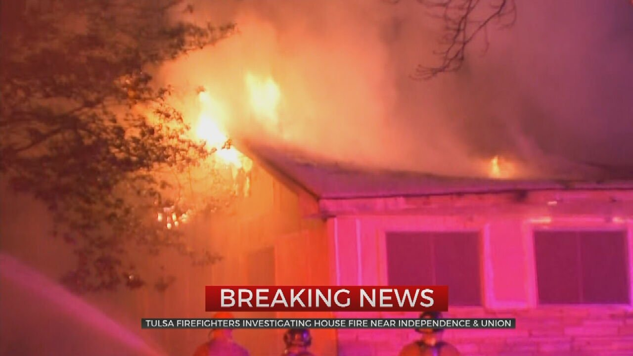 Tulsa Firefighters Respond To House Fire Near W Independence, N Union