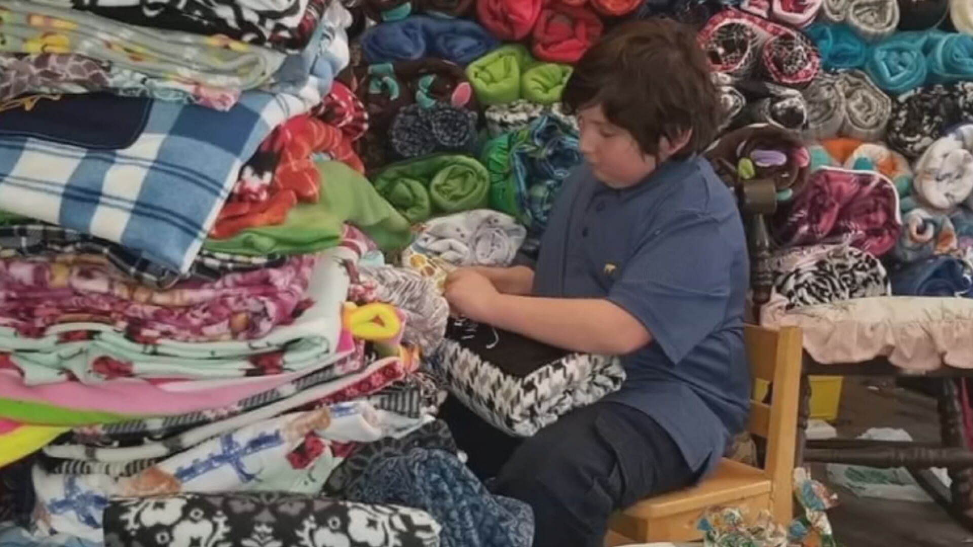 Kellyville 10-Year-Old Donates Blankets To Bristow Nursing Home