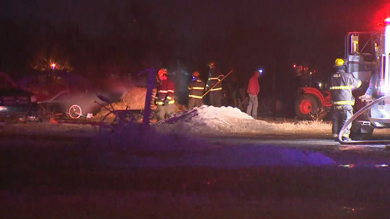 Firefighters Respond To Barn Fire In Inola
