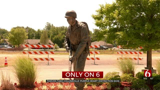 Sign Honoring Veterans Stolen In Collinsville