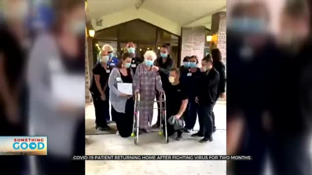 COVID-19 Patient Returns Home After 2-Month Battle With Virus