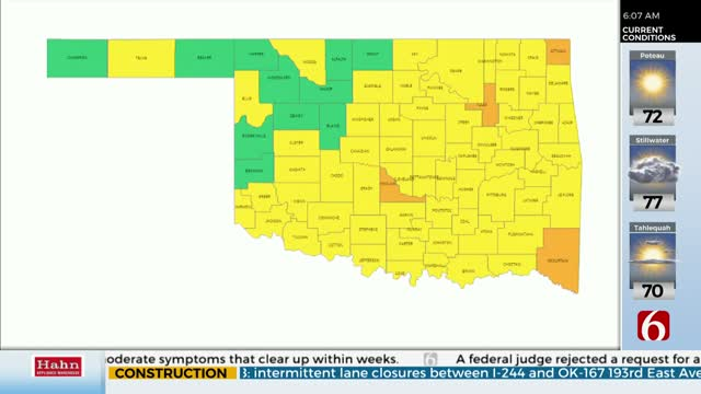 Oklahoma Now Utilizing Color-Coded COVID-19 Map
