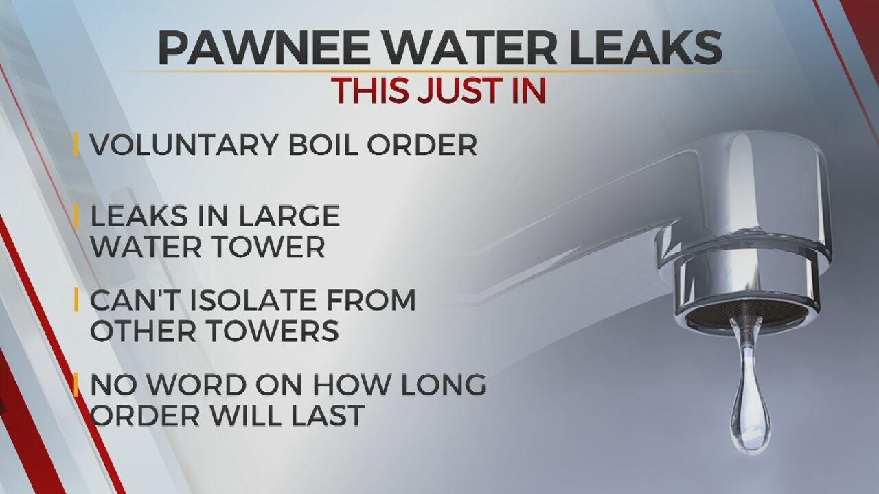 City Of Pawnee Issues Voluntary Boil Advisory