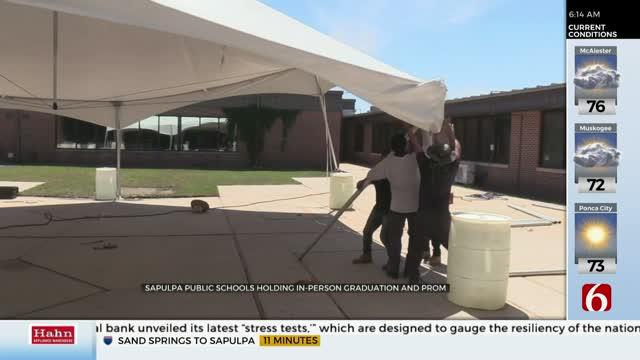 Sapulpa's High School Holding Graduation & Prom Outside, Taking COVID-19 Precautions