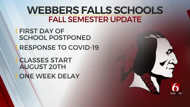 Webbers Falls Schools Delay First Day Of School