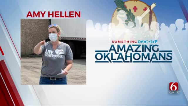 Amazing Oklahoman: Amy Hellen Spends Free Time Buying Food For Others