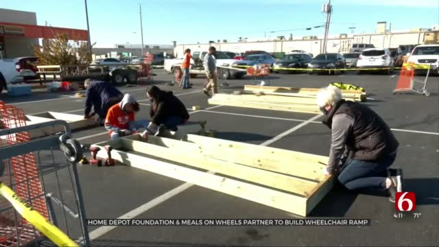 Home Depot Foundation Teams With Meals On Wheels To Build Wheelchair Ramp