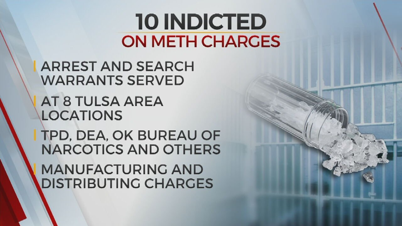 10 People Indicted On Meth Trafficking Charges