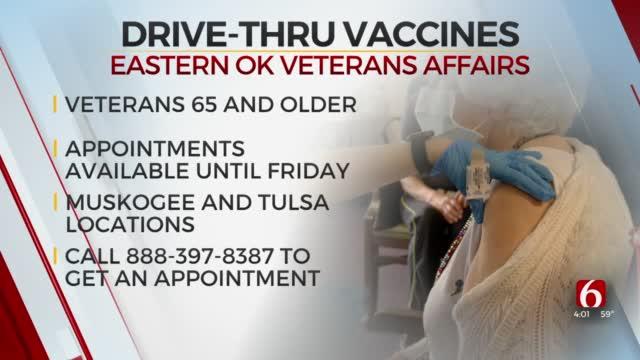 Eastern Oklahoma Veterans Affairs Holding Drive-Thru Vaccine Clinics