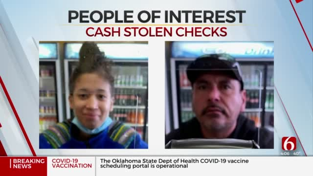 Tulsa Police: 2 People Accused Of Attempting To Cash Stolen Checks