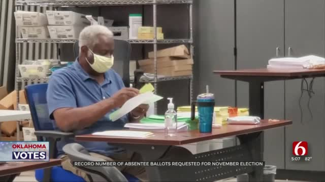 Tulsa Co Election Board Prepares For November As Record Number Of Absentee Ballots Requested