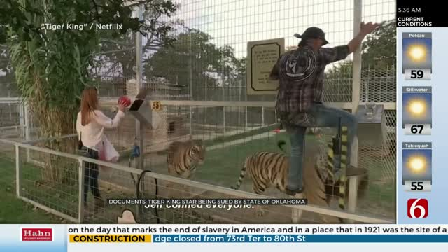 Tiger King Star Being Sued by State of Oklahoma