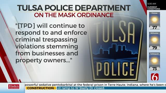 Tulsa Police Seeking Legal Opinion On Newly Passed Mask Ordinance