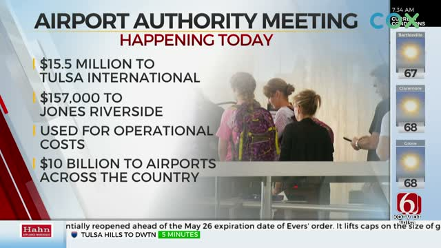Tulsa Airport Authority Meeting To Approve More Than $15 Million In Federal Grants