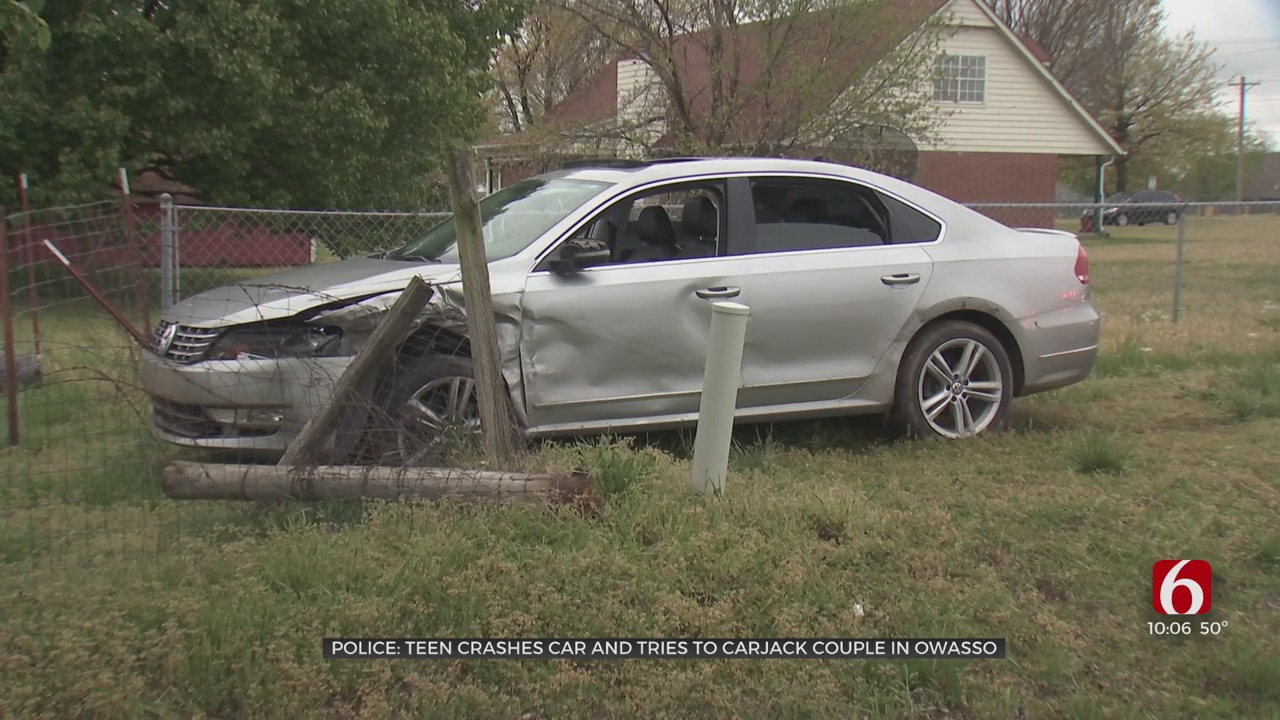 Owasso Police: 17-Year-Old Crashes Car, Tries To Steal Another Vehicle